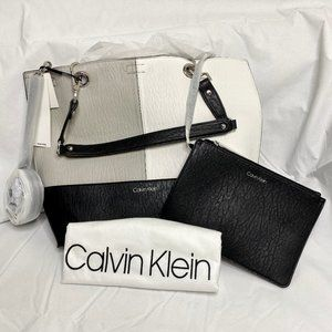 Calvin Klein Sonoma Reversible Tote with Pouch NWT